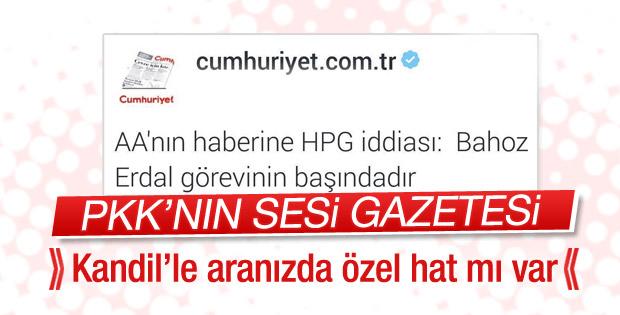 PKK Cumhuriyet aracılığıyla yalanladı