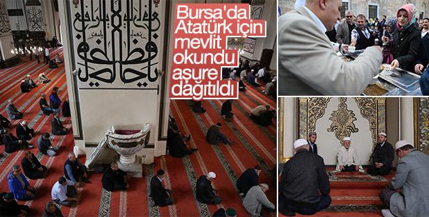 Bursa'da Atatürk için mevlit okutuldu