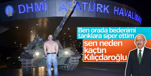 Tankın önüne çıkan adam Kılıçdaroğlu'na hesap sordu