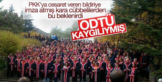 ODTÜ'lü akademisyenlerden cübbeli protesto