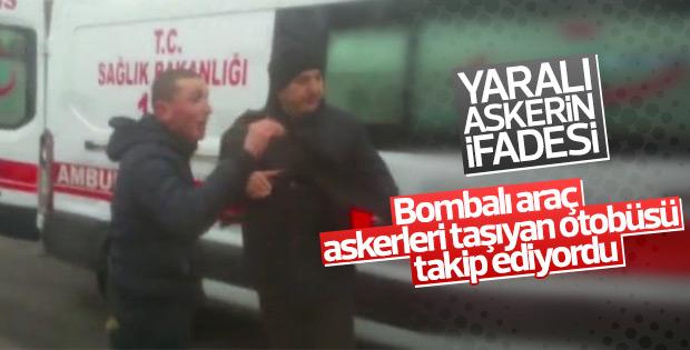 Kayseri'deki saldırıda yaralanan asker o anları anlattı
