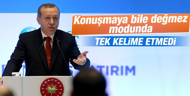 Erdoğan HDP'lilere gözaltı için tek kelime etmedi