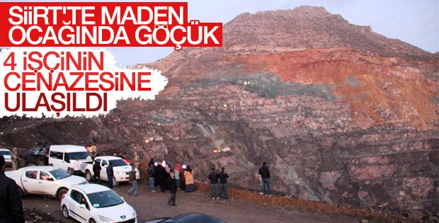 Siirt'te maden ocağında göçük