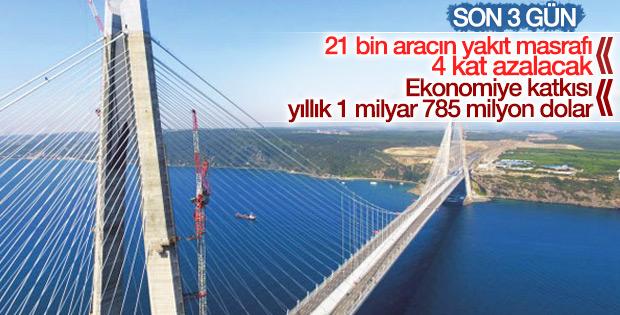 3. Köprü 21 bin ağır vasıta için yeni rota oldu