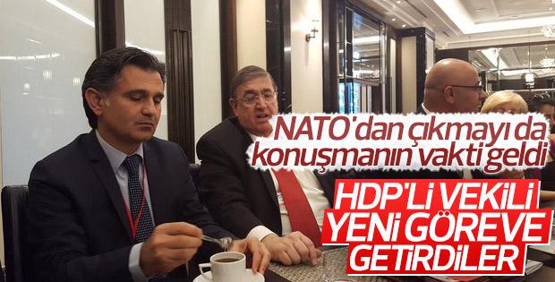 HDP'li Ziya Pir'e NATO'da görev