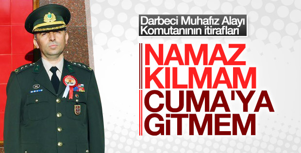 Cumhurbaşkanlığı Muhafız Alayı Komutanının ifadesi