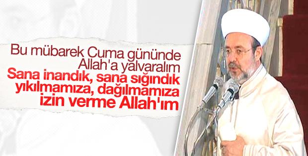 Cuma hutbesini Mehmet Görmez okudu