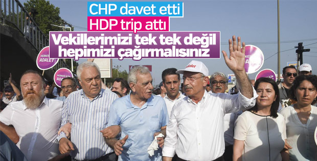CHP ile HDP arasında davet krizi çıktı