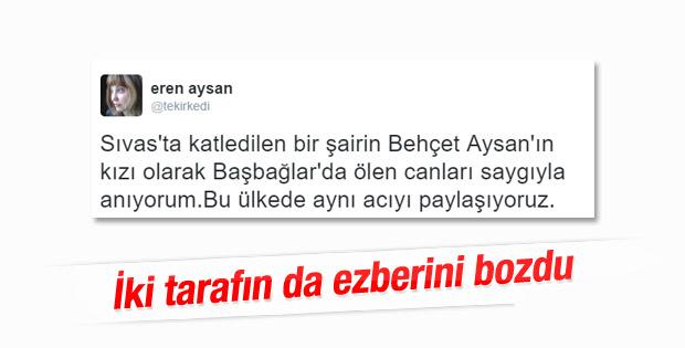 Eren Aysan'dan Başbağlar tweet'i