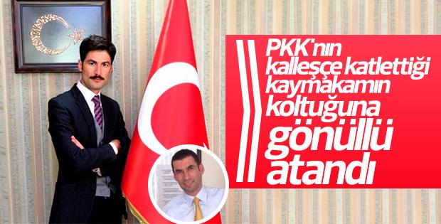 PKK saldırısında şehit olan kaymakamın yerine atama yapıldı