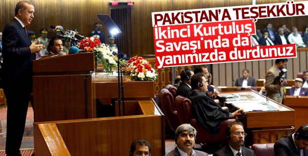 Erdoğan, Pakistan Meclisi'ne hitap etti