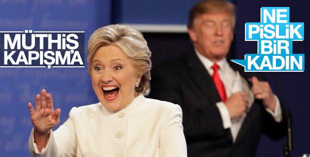 Trump ve Clinton son kez kozlarını paylaştı