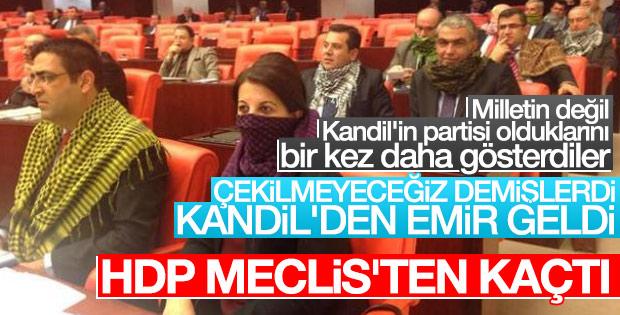 HDP, Meclis'ten çekildi