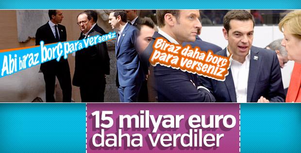 AB'den Yunanistan'a 15 milyar euro