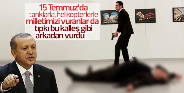 Erdoğan'dan Rus elçiyi vuran katile: Kalleş