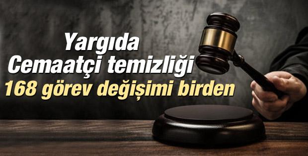 168 savcı ve hakimin yeri değiştirildi