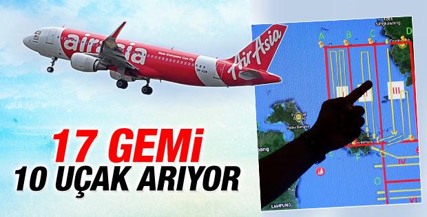 Kaybolan AirAsia uçağını arama kurtarma çalışmaları