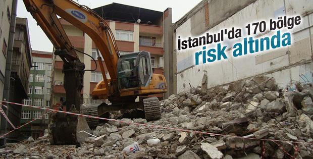 İstanbul'da 170 bölge risk altında