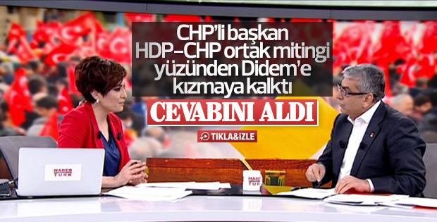 Didem Arslan Yılmaz'la CHP'li başkan arasında gergin anlar