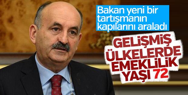 Bakan Türkiye'de emeklilik yaşının düşük olduğunu söyledi