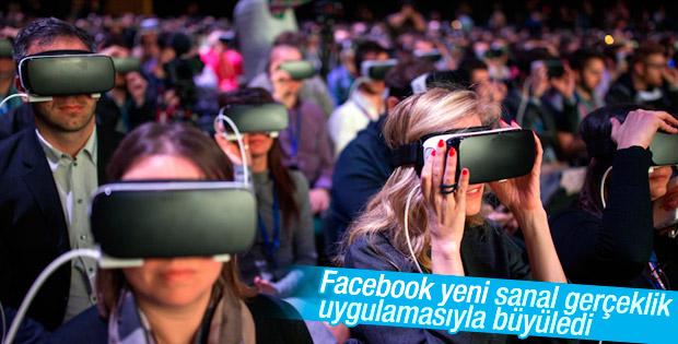 Facebook'a yeni sanal gerçeklik uygulaması