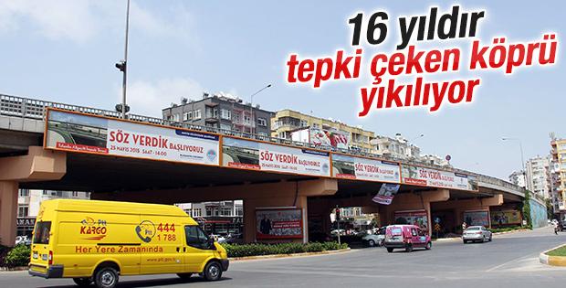 16 yıldır tepki çeken Tulumba Köprüsü yıkılıyor