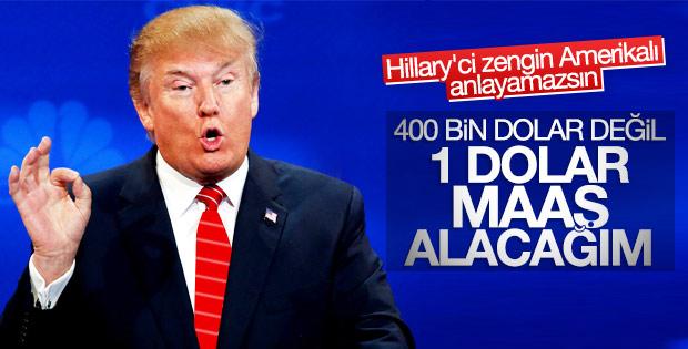 Trump başkanlık maaşını almayacağını açıkladı