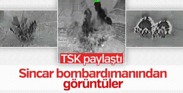 TSK'nın Sincar'ı bombalama görüntüleri
