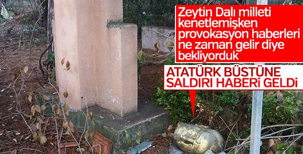 Manisa'da Atatürk büstüne saldırı