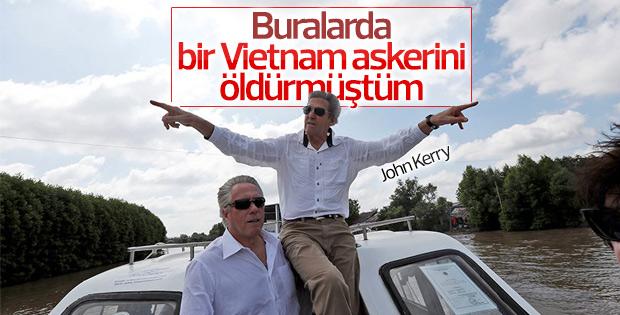 John Kerry Vietnam askerini öldürdüğü bölgeye gitti