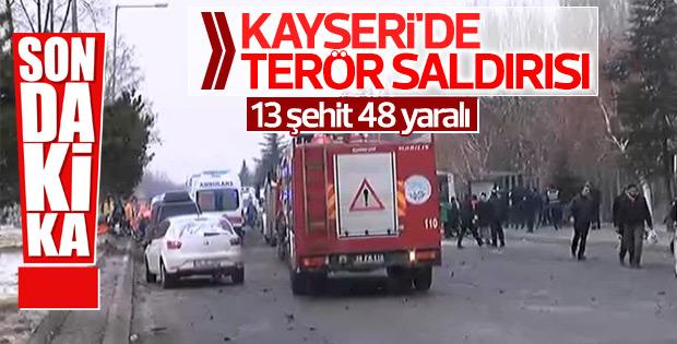 Kayseri'de terör saldırısı