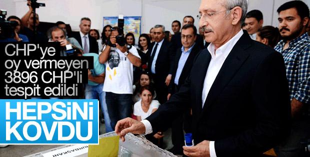 Seçimde CHP'ye oy vermeyen 3896 CHP'li üyeye ihraç