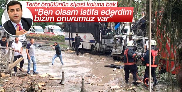 Demirtaş'tan Vezneciler yorumu: Ben olsam istifa ederdim