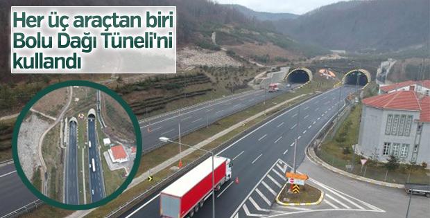 Bolu Dağı Tüneli'ni 7 milyondan fazla sürücü kullandı
