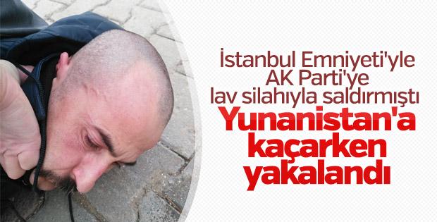 AK Parti binasına saldıran terörist yakalandı