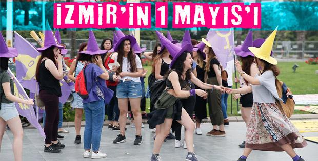 İzmir'de renkli 1 Mayıs görüntüleri