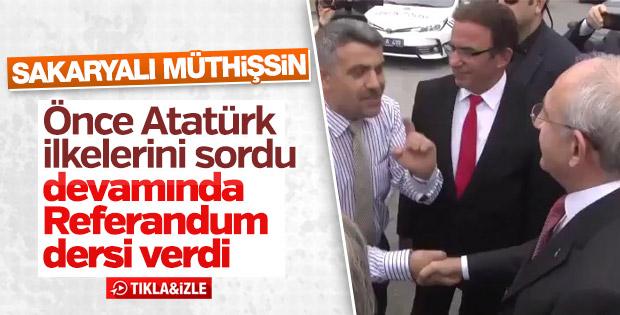 Vatandaş Kılıçdaroğlu'na Atatürk ilkelerini sordu