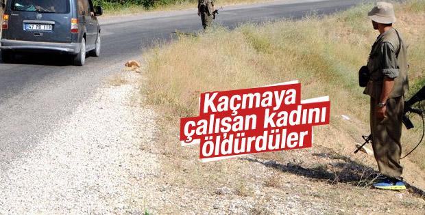 Erzincan'da PKK otomobile ateş açtı