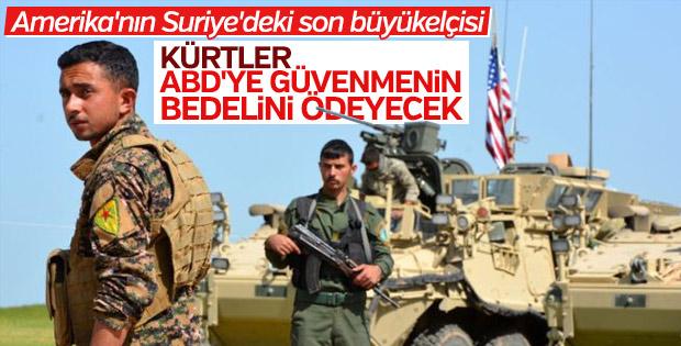 ABD'nin Suriye'deki son elçisi PYD için olumsuz konuştu