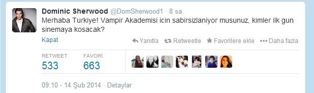 Dominic Sherwood Türkiye'deki hayranlarına seslendi - izle