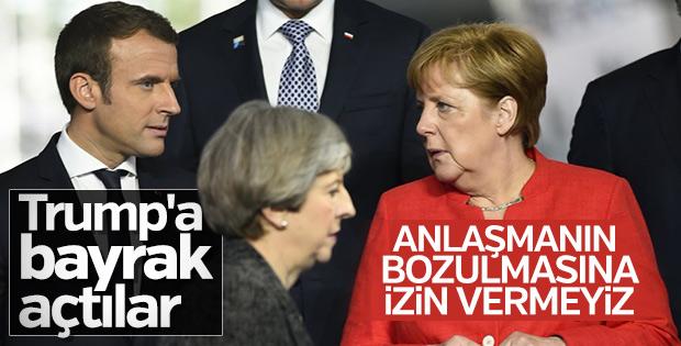Avrupalı 3 liderden İran'a nükleer anlaşma desteği