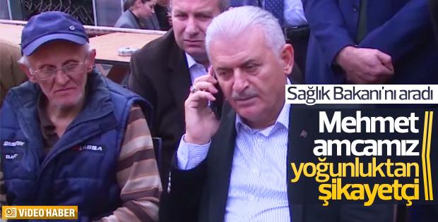 Başbakan Yıldırım hasta yakınıyla Bakan Akdağ'ı görüştürdü
