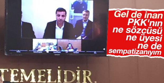 Selahattin Demirtaş 'PKK'ya sempatim yok' dedi
