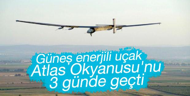 Güneş enerjili uçak Atlas Okyanusu'nu 3 günde geçti