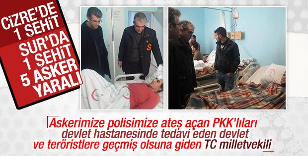 HDP'li vekil PKK'lıları ziyaret etti