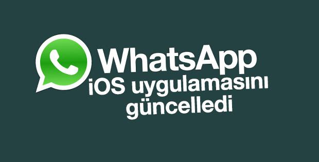 WhatsApp İOS uygulamasını güncelledi