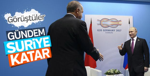 Hamburg'da Erdoğan-Putin görüşmesi