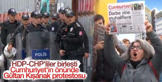 CHP ve HDP'lilerden Cumhuriyet'in önünde protesto
