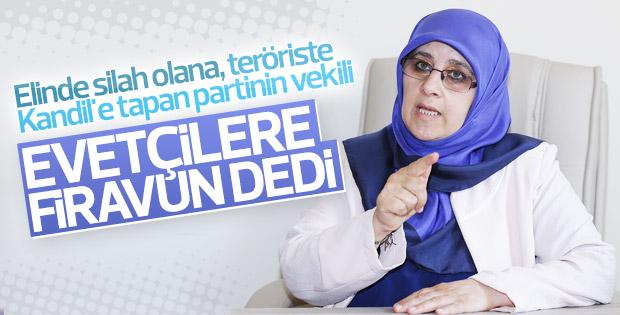 HDP'li Hüda Kaya 'evet'çilere firavun dedi