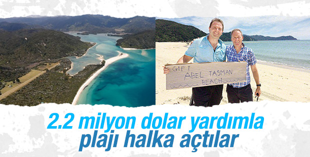 Yeni Zelanda'da özel mülk olan plaj halka açıldı